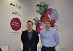 Tomas Osencovas and Kostas Mikuta from Joviage, were at Fruit Logistica this year to show visitors their packaged beetroot.