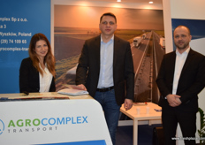 This was the first year for AgroComplex to have a stand at Fruit Logistica. From left to right; Hristina Filudis, Pawel Kwiatkowski and Michal Bonistawski.