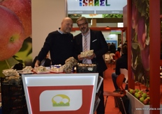 Robert Jurga- President of GPG 'Prime Champ' and Salvatore Cefalu, showing the various types of mushrooms offered by the company.