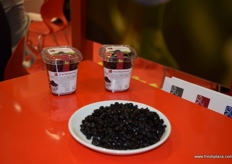 A close up of the dried blueberries offered by Polish producer Sunberry.