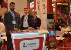 Marceli Poterucha, Mateusz Hamera and Barbara Sokolnicka supporting export from the Lubelskie region of Poland.