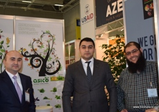 Sarkhan Aliger and Hasan Shamchiger from Asico and Ogtay Huseyni from DAD fruits.