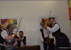 Visitors were treated to traditional Czech music at the end of day two at the Ceroz stand.