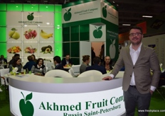 Evgeny Maltcev from the Akhmed Fruit Co., based out of St. Petersburg.