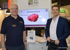 Jonathan Snape and Jamie Smith from James Hutton Ltd. The company have many breeding programs including blackberry and raspberry. The Glen Dee raspberry which already has commercial volumes in production and has been nominated for the Grower's Award.