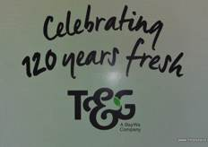 T&G Global celebrated 120 at the trade fair.