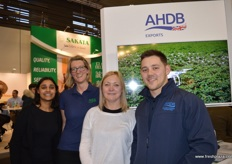 Anita Tailor, Claire Hodge, Amanda Robins and Aaron Newman were representing AHDB Exports this year.