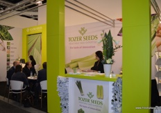 The Tozer Seeds stand was busy with meetings.