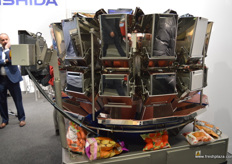 A multi-head, fully automated weigher from Ishida.