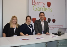 Louise Jenner, Tracy Rice and Raphael Barona Martinez from Berry Gardens.