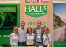 The team from Halls: Tracey McBain, Craig Lewis, Leigh Green, Ate Kalsbeek, Cheralyn Stols.