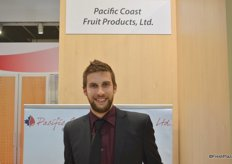 Ben Klootwyk with Pacific Coast Fruit Products Ltd. from British Columbia.