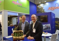 Proudly showing avocados are Todd Mauritz and Jim Donovan with Mission Produce.