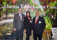 Andrew Brown, Mansi Ahuja and Keith Sunderlal with the California Table Grape Commission.