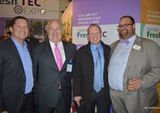 Attending the United Fresh reception: Chris Henry with Del Monte, Vincent Gordon with Procuro, Darren McCoy with Procuro and John Toner with United Fresh.