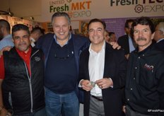 Yuly Gonzalvo and Michael Muzyk with Baldor Specialty Foods as well as Aaron Fox and Ed Savigny with Fox Packaging.