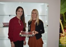 Sonia Vazquez and Anja Grueterich with Ekland Marketing Company of California