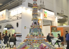 Eiffel Tower of fruit and vegetables