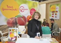 Aurélie Nunez from Regal'in. They have new packaging and for this year Saveur de l'annee for flat peaches