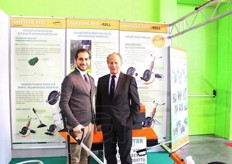 Andrea and Piergiorgio Pimazzoni from Agricenter, a company producing machinery, equipment and tools for soil preparation and tillage.
