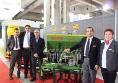 The B Group stand (Bargam spa), specialised in machinery: Angelo Bellesia, Enrico Rosetti, Ugo Cambruzzi, Luigi Blasi (chairman) and Cristina Castagnotto.