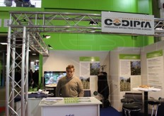 Michael Huber, at the CoDiPrA - Consortium for the Defence of Agricultural Producers stand.