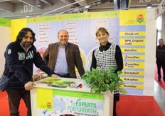 Francesco Gargiulo, Tiziano Oriato and Elena Arosio from Compo Expert Italia srl (specialised in feritilisers).