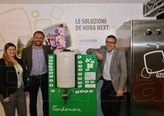 De Nora NEXT presented the hozone technologies for effective cold storage. Left to right: Violetta Ferri, Eraldo Secchi and Cristian Carboni.