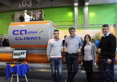 Isacco Salvi, Daniele Orioli (sales manager), Katerina Tisselli and Henning Poeppe (Palm System) from Elisam srl (machinery for fruit processing).