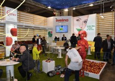 The Evelina stand was the one hosting the body painting performance