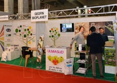 Geofin and Bioplanet stand.