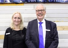Esther Von Kerkhof and Gert Brouwer (export manager) from Greefa, Dutch company specialising in quality control, software processing, packaging machines, sorting plants and bin handling.