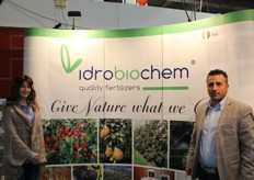 Maria Pagano and Vincenzo Manduzio from Idrobiocham srl (fertilisers)