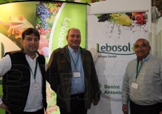 Werner Spitaler, Thomas Lietz and Antonio Benini from Lebosol (fertilisers).