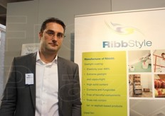 Martijn Meeuwse, management director from Ribbstyle Selected Products bv. The company specialises in special non-toxic plaster and coverings that do not deteriorate in cold storage or controlled atmosphere units.