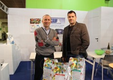 Markus Scarizuola and Dario Bonavia from Scam spa (fertilisers).