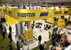 A bird's eye view of the Unisorting stand, the new company for the development of state-of-the-art techologies controlled by Unitec.