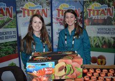 Jessica Gibson and Hillary Barrow representing Titan Farms.