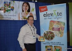 David O'Toole with Ready Pac Foods showing the new elevAte product.