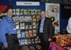 Bill Litvin and Gregory Sagan from Giorgio Fresh proudly showing their display of mushrooms.