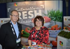 Rick Seguin and Margaret Wigfield with Ontario Greenhouse Vegetable Growers.