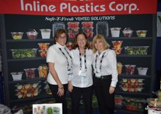 Jody Fejes, Cindy Blish and Siobhan Kieras with Inline Plastics Corp.