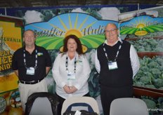 Bill Saussaman, Jen Kapelus and Rick Stauffer with Stauffer Huling Farms.