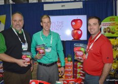 Justin Ruta, Eric Ziegenfuss and TJ Wilson from Oppy showing the new Outrageously Fresh jar bags.
