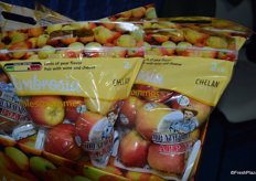 Last month, Chelan Fresh launched pouch bags of apples that contain a lot of consumer information, including a taste meter as well as how to pair the specific apple variety with other food products. It helps the consumer identify which apple variety to buy.