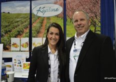 Andrea Scroggs and Michael Blume with Keystone Fruit Marketing.