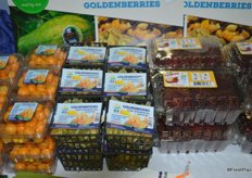 Goldenberries and goldenberries with husk as well as rambutans on display at the HLB Specialties booth.