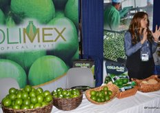 Erika Anguiano with Colimex talking to trade show attendees.