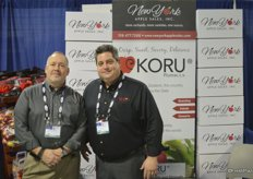 John Cushing and Michael Harwood with New York Apple Sales, Inc.
