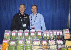 Jay Rodriguez with Crystal Valley Foods and Bill Santoni of Coosemans Specialty and Ethnic Produce.